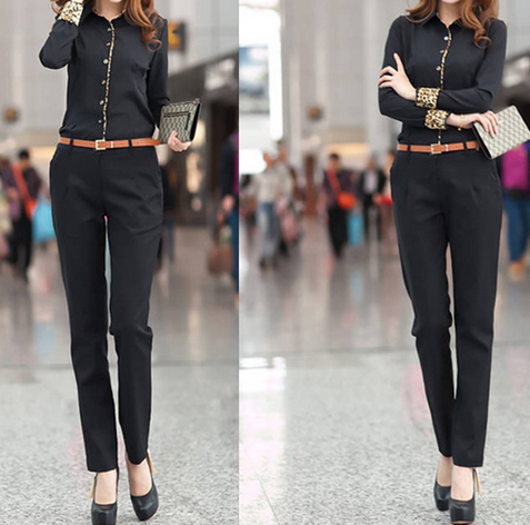 Профессиональная леопардовая рубашка для женщин   - 4