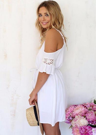 Свободное кружевное платье для женщин  - 3