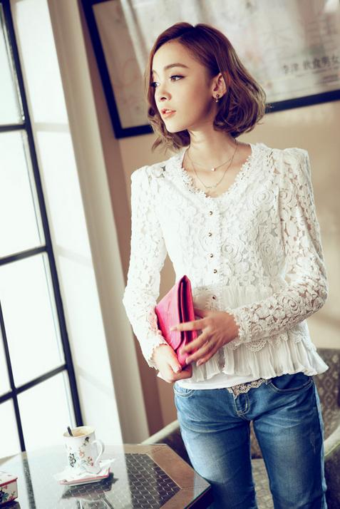Тонкая прозрачная блузка для женщин  - 5