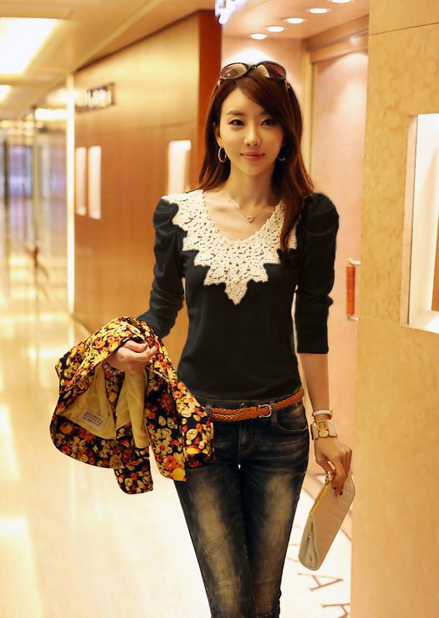 Милая элегантная блузка для женщин  - 8