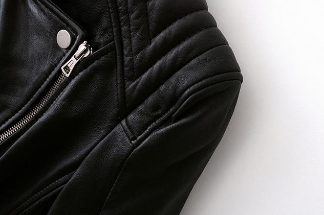 Кожаная куртка бомбардировщик для женщин   - 7