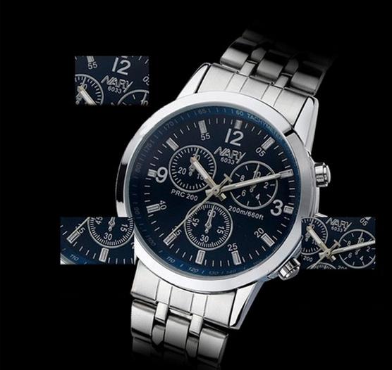 Роскошные водонепроницаемый из нержавеющей стали кварцевые деловой человек наручные часы бу бесплатная доставка и оптовая продажа - 1
