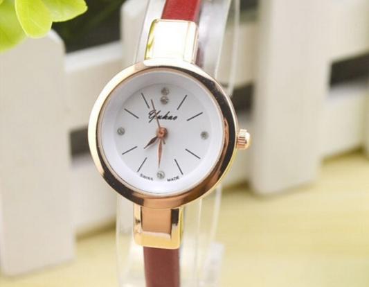 Новый часы г-жа хан издание мода контракт студенты наивысшее ремень ультра-тонких алмаз кварцевые часы - 1