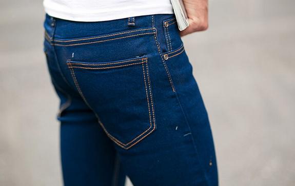 Зимние дизайнерские джинсы для мужчин - 6