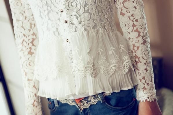 Тонкая прозрачная блузка для женщин  - 7