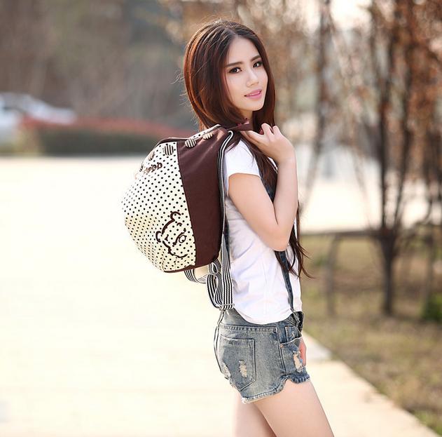 Новый женский рюкзак с краской  - 3