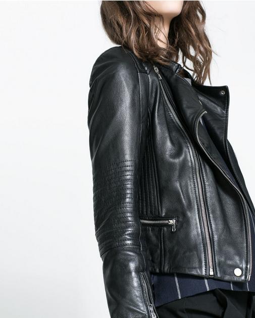 Кожаная куртка бомбардировщик для женщин   - 1