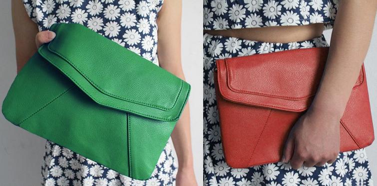 Модная кожаная сумка через плечо для женщин  - 2