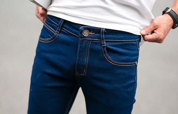 Зимние дизайнерские джинсы для мужчин - 8