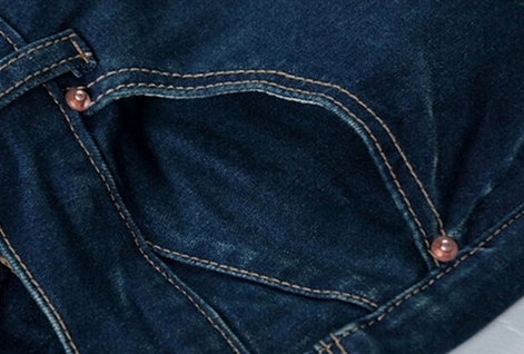 Женские джинсы со сплошным цветом  - 5