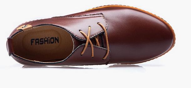 Модные кожанные туфли для мужчин  - 1