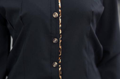 Профессиональная леопардовая рубашка для женщин   - 3