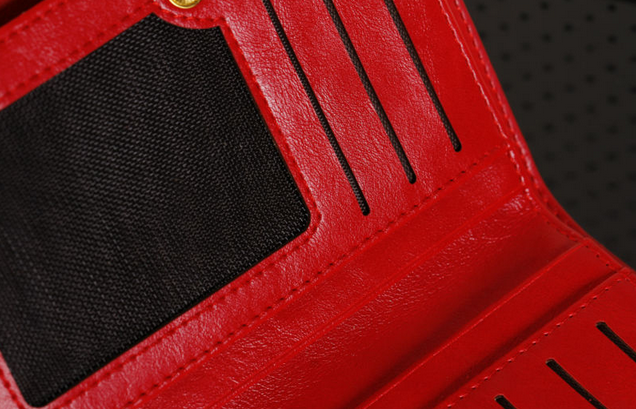 Модный тонкий кошелёк для женщин  - 8