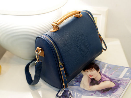 Новая бочкообразная сумка через плечо для женщин - 12