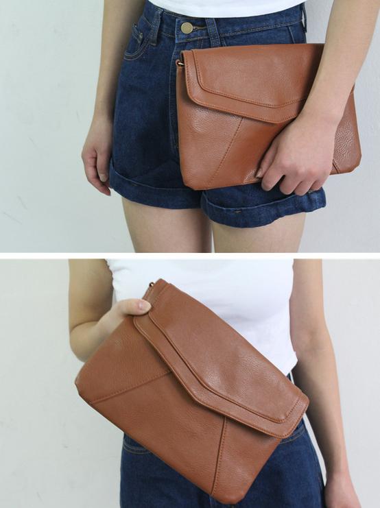 Модная кожаная сумка через плечо для женщин  - 3