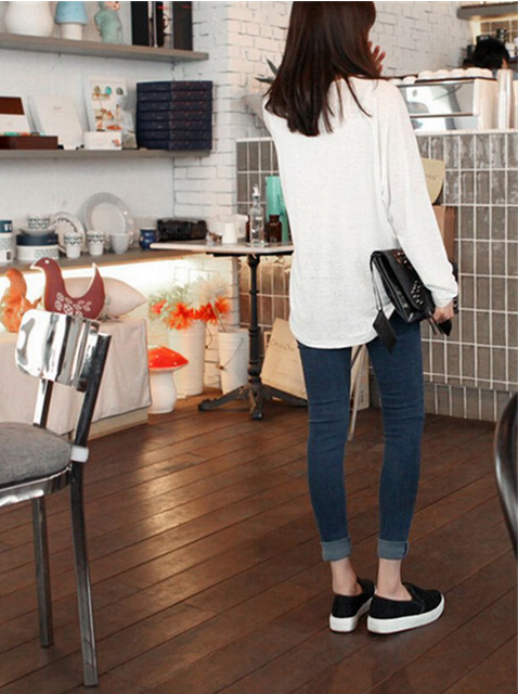 Женские джинсы со сплошным цветом  - 2
