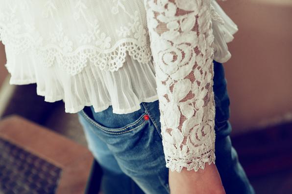 Тонкая прозрачная блузка для женщин  - 8