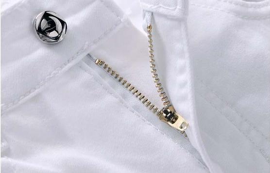 Белые узкие джинсы для мужчин - 3
