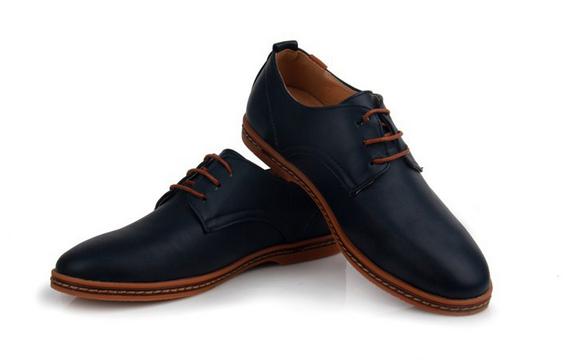 Модные кожанные туфли для мужчин  - 5