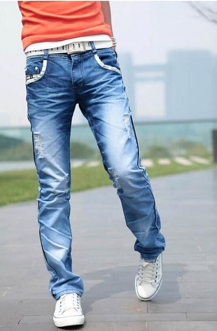 Мужские свободные джинсы для мужчин  - 2
