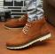 Кожаные тёплые ботинки для мужчин  - 6