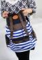 Полосатый рюкзак для женщин - 1