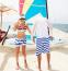 Полосатые пляжные шорты для мужчин  - 3