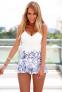 Белое сексуальное кружевное платье для женщин  - 6