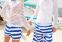Полосатые пляжные шорты для мужчин  - 4