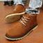 Кожаные тёплые ботинки для мужчин  - 5