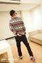 Вязанный свитер с оленями для мужчин  - 4