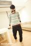 Вязанный свитер с оленями для мужчин  - 9