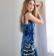Женское летнее мини платье  - 1