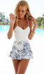 Белое сексуальное кружевное платье для женщин  - 1