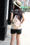 Новый женский рюкзак с краской  - 4