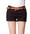 Летние короткие шорты с поясом для женщин  - 5