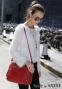 Новая бочкообразная сумка через плечо для женщин - 8
