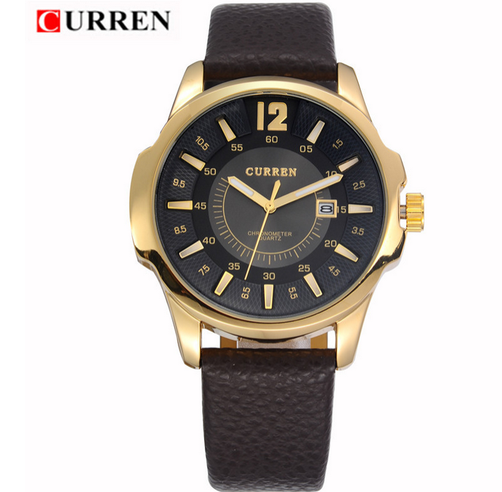 Мода мужчины часы 4 цветов CURREN 8123 марка наручные часы япония движение кварцевые часы с календарем 1 шт./лот BW-SB-758