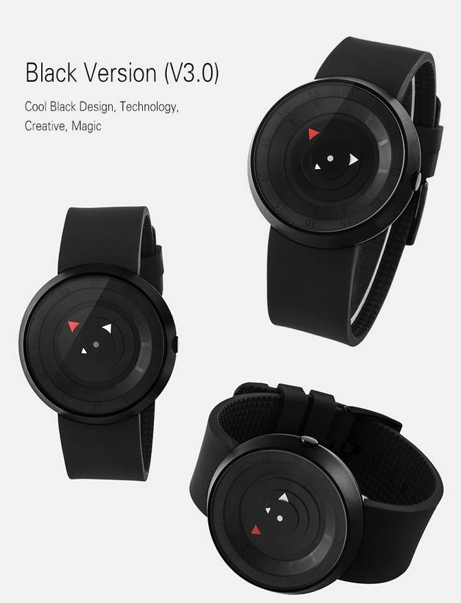 Новый мужчины женщины-мастер мода свободного покроя водонепроницаемый черный прохладный магия кварц каучуковый ремешок простой наручные часы Relogio мужская спортивные часы