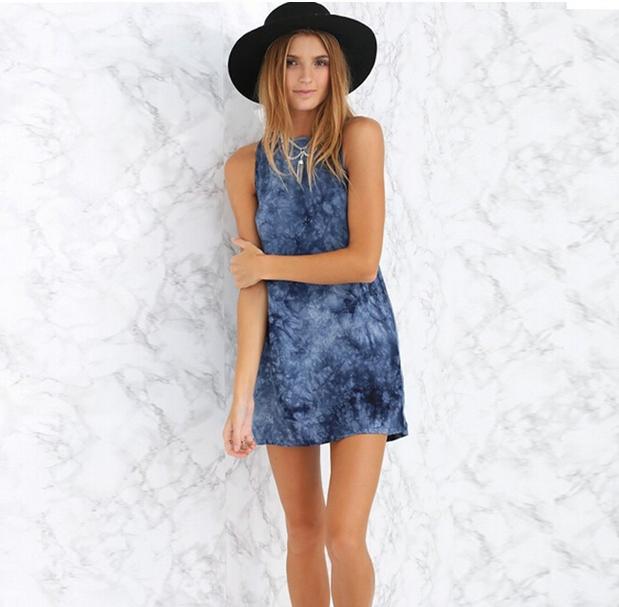 Женское летнее мини платье