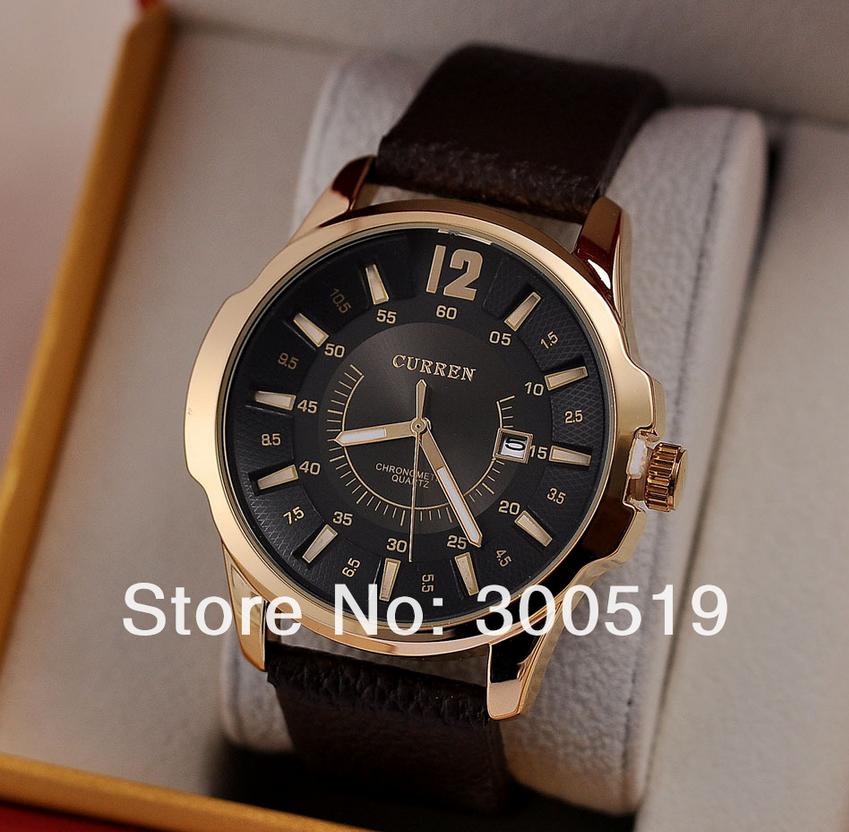 Jw483 мода свободного покроя мужчины CURREN бренд наручные часы япония движение кварцевые часы джентльмен большой дейл с календарем Colck часов