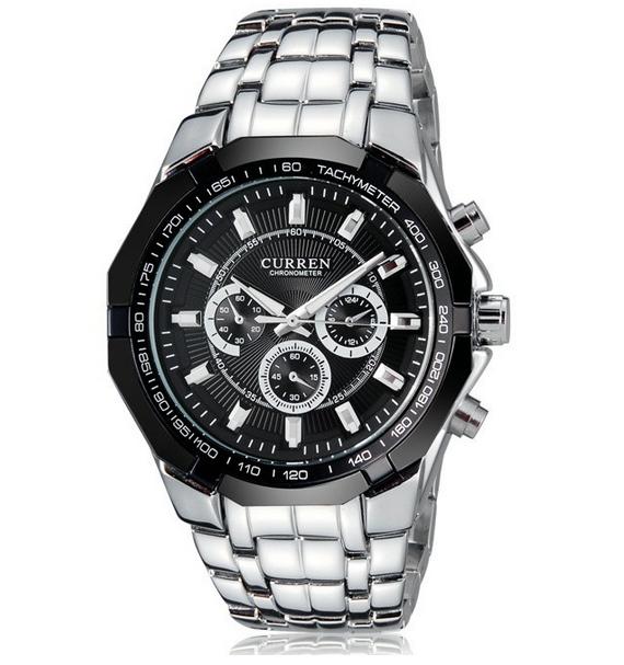 Нью-curren мужские кварцевые полный из нержавеющей стали военные свободного покроя спортивные часы водонепроницаемый бренд горячая распродажа relogio masculino наручные часы