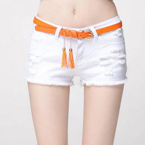 Сексуальные твёрдые джинсовые шорты для женщин