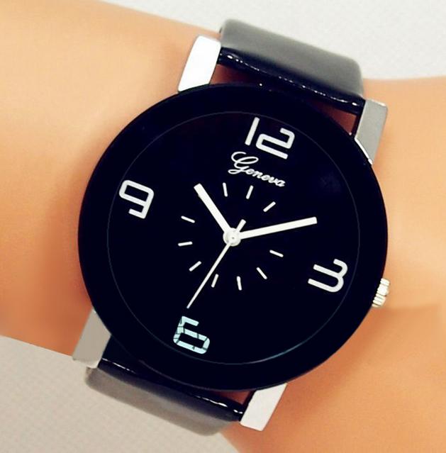 Бизнес класс белый и черный цвет наручные часы мода Высокое качество часы Relogio Feminino кожа Starp кварцевые часы Masculino