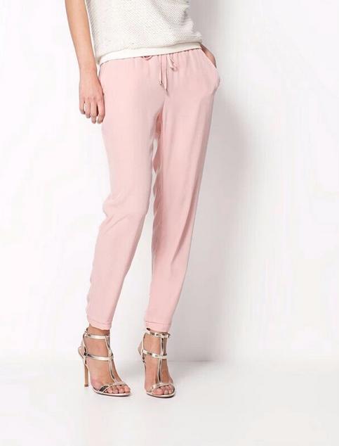 Твёрдые свободные брюки для женщин