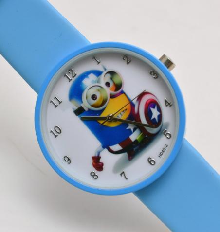 Аниме силиконовые дети новый мультфильм часы, Желе часы детям гадкий я миньоны наручные часы рождественский подарок для детей