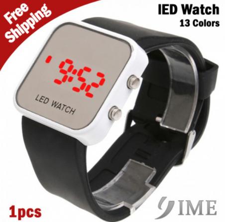Хиты 2014 распродажа оптовая продажа спорт стиль зеркальной поверхности из светодиодов электронные часы для женщин мужчины из светодиодов зеркало наручные часы
