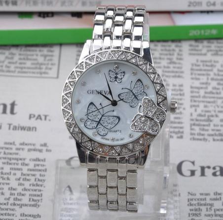 Мода из нержавеющей стали кварцевые часы для женщин дамы бабочка повседневную одежду наручные часы relogio feminino Y50 * MHM532 # S4