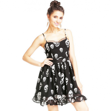 Свободное тёмное летнее платье для женщин
