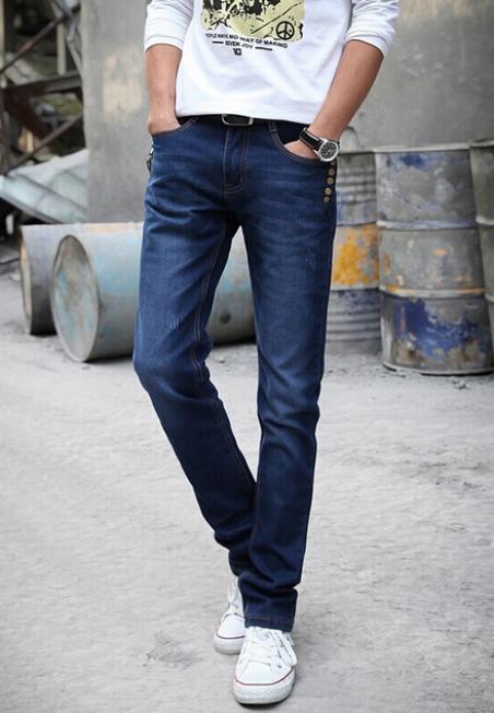 Модные повседневные джинсы для мужчин